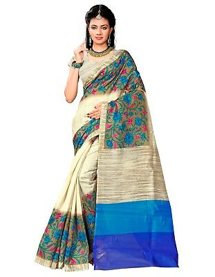 Indian Designer Bhagalpuri cotton New daily wear floral print saree with blouse