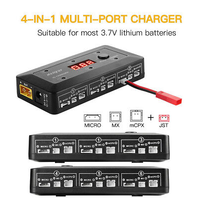 helifar UP-S6 1S Lipo Battery Multi Ports Balance Charger for RC Drones EU / US