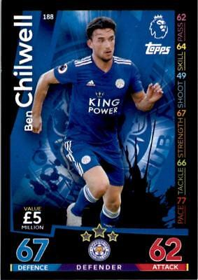 Match Attax 18/19 Ben Chilwell Leicester City Base card No. 188