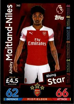 Match Attax 18/19 Ainsley Maitland-Niles Arsenal Rising Star No. 362