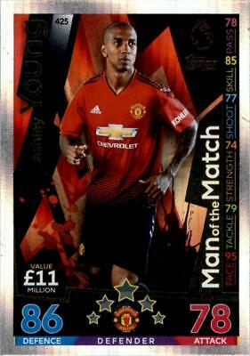Match Attax 18/19 Ashley Young Manchester United Man of the Match No. 425