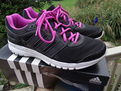 d909cc5787818 Adidas Duramo 6 Womens Black Flash Pink Running Course Sneakers size 9.5