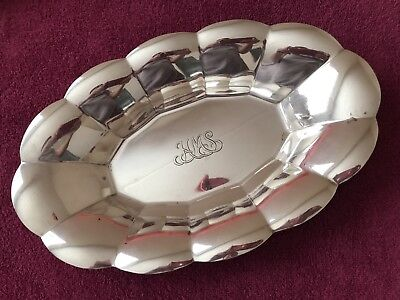 Tiffany & Co. Sterling Silver Scalloped Bread Tray ~ Mono