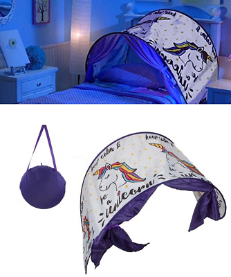 Child's Bedroom Pop Up Unicorn Dream Screen Kids Tunnel Tent Night Magical Horse