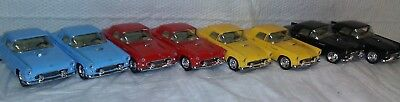 Kinsmart 1955 Ford Thunderbird Diecast Model Toy Cars 1:36 Blue Red Black Yellow