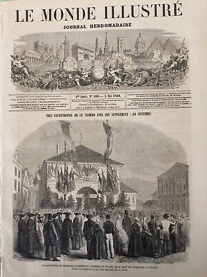 LE MONDE ILLUSTRE' Journal Hebdomadaire n 160  5 m.1860 NAPOLI CHAMBERY Toulouse