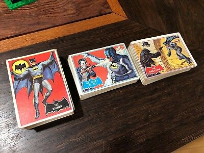 1966 TOPPS BATMAN BLACK 55 CARD SET + 40/44 red 36/44 Blue nearly a complete set