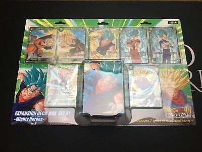 Dragon Ball Super Card Game - Mighty Heroes Expansion Deck Box Set Foil Alt Art