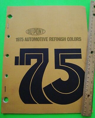 1975 DUPONT AUTO PAINT COLOR CHIPS BOOK Ford GM Chrysler AMC + TRUCKS Mack REO
