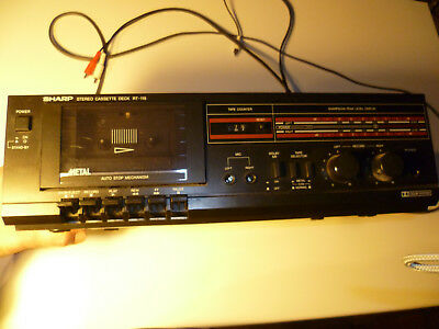 Sharp Stereo Cassette Deck RT-115 Kassettendeck Audio Hifi