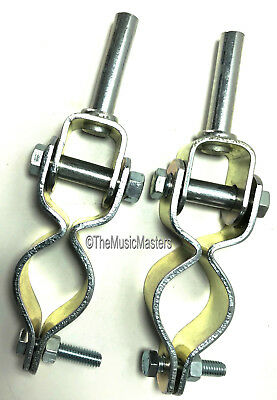 "Pair of Extra Heavy-Duty 1/2"" inch Clamp On Oar Locks Row Boat Oarlocks Oar Lock"