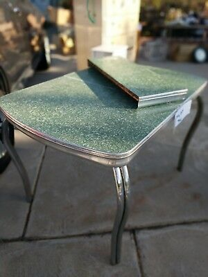 Formica Table Green Chrome