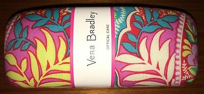 """Vera Bradley Eyeglass / Optical Case As Pictured """"paisley In Paradise"""" New"""