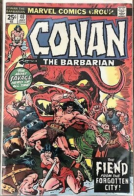 Conan The Barbarian #40  (1970 Series) The Fiend From The Forgotten City!
