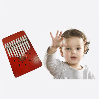 Mahogany Kalimba 10 Keys Thumb Piano Kit African Mbira with Hammer RH