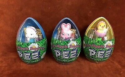 NEW IN PACKAGE ~ (3) PEZ Easter Hippity Hoppities Eggs 2005 ~ FREE SHIPPING