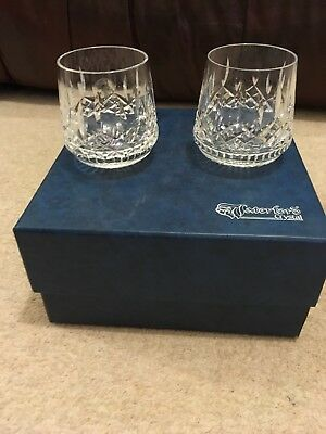 Vintage Boxed Pair Of Waterford Lismore Roly Poly Glasses - Beautiful Condition