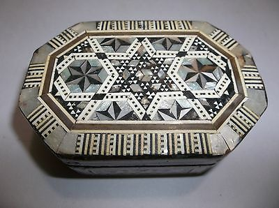 Vintage PERSIAN INLAID WOOD And SHELL  BOX Middle East