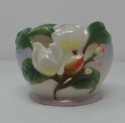 Franz Porcelain Magnolia Tea Light Holder FZ00514 Unboxed