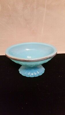 Avon - Blue Soap Dish with Gold Trim