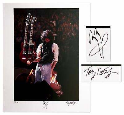Led Zeppelin Jimmy Page Signed Limited Edition 16'' x 20'' Photo