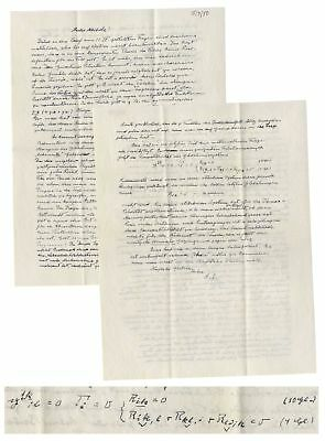 Albert Einstein Autograph Letter Signed on God & Science w/ Calculations in Hand
