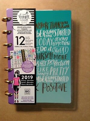"NEW 2019 Happy Planner the happy planner girl ""HEALTHY HERO"" MINI 12 Mo.Planner"