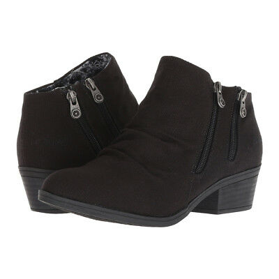 New Blowfish Women's Storz Ankle Boot Black Rancher Canvas 6