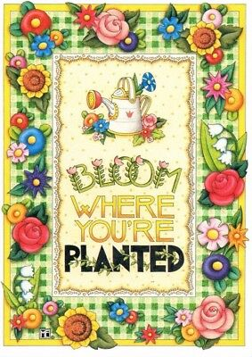 """Mary Engelbreit """"Bloom Where You're Planted"""" 8 x 10 Ready to Frame Print"""