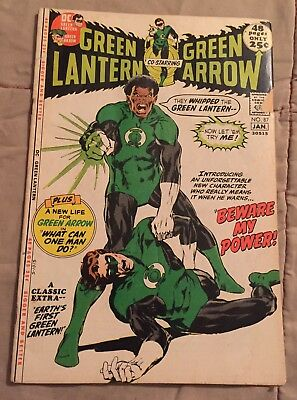 GREEN LANTERN AND GREEN ARROW #87 First Jon Stewart Key Issue  [DC comics]