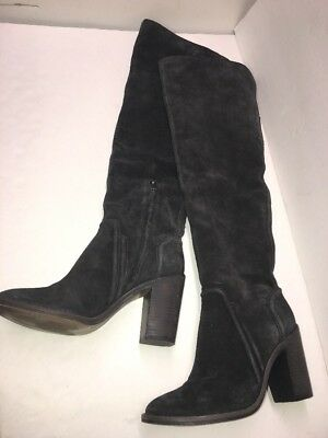 25e05e1f336 vince camuto  melaya  over the knee boot in anchor grey verona suede  women s 8