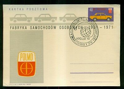 1971 Polmo Automobile Polish Stamped Advertising Card