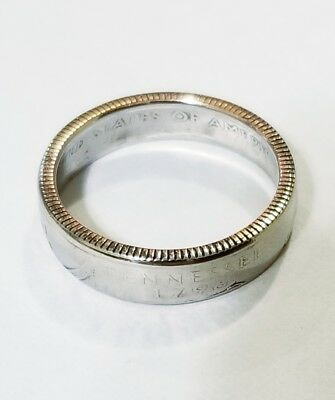 Handmade Coin Ring-US State Quarter-Pick Your State-Sizes 5-12