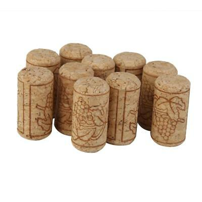 10Pcs Rustic Natural Wood Cork Bottle Stoppers Wine Corks Crafts Accessories