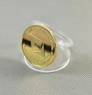 Nice Commemorative Collectible Golden Silver Iron ETH Ethereum Miner Coin