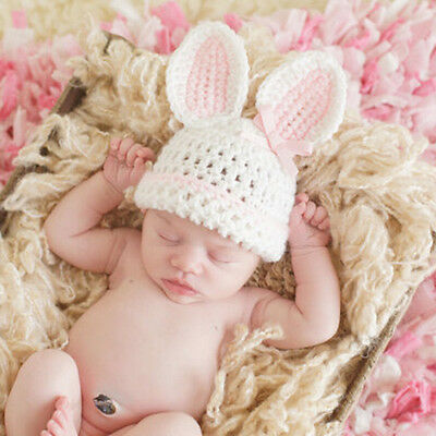 Newborn Infant Babys Crochets Knit Photo Photography Costume Prop Outfit Bunny