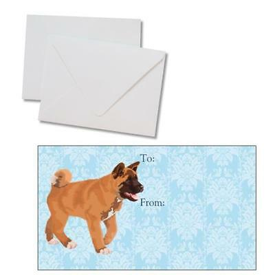 Akita Puppy Dog Holiday Christmas All Occasion 250 Gift Tags w/ Envelopes