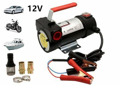 Portable 12V Diesel Fluid Extractor Electric Transfer Pump Car Fuel Speed 160W