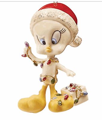 Lenox Looney Tunes Tweety All Tangled Up Christmas Ornament
