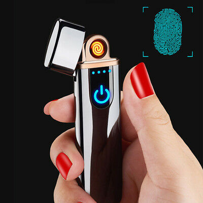Touch USB Electric Flameless Torch Rechargeable Windproof Cigarette Lighter