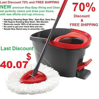 Rotating Mop Amazing Cleaning spinning the mop Simple Mop Stand easy to assembl