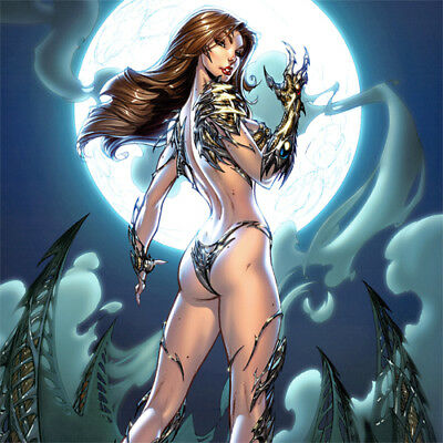 "WITCHBLADE Signed ART PRINT J Scott Campbell 19 x 13"" Nei Ruffino NEW #135 Cover"