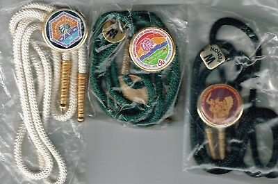 BSA Three National Order of the Arrow Conference Bolo Ties 1973 1979 1983 NOAC