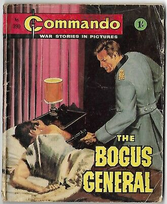 """Dated 1969. Vintage COMMANDO War Picture Comic # 390. """"The Bogus General"""""""