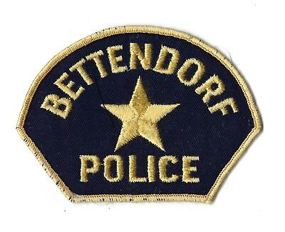 Bettendorf (Scott County) IA Iowa Police patch - Nice! *Cheesecloth Back*