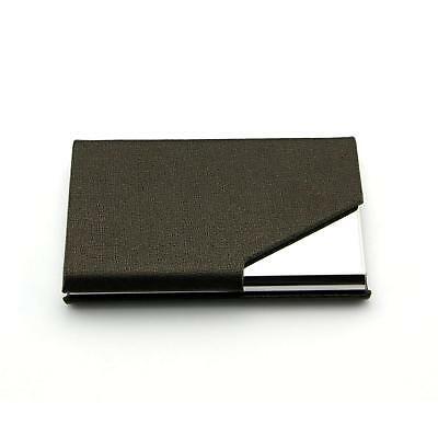 PU Leather Pocket Metal Business ID Credit Card Holder Case Wallet New US