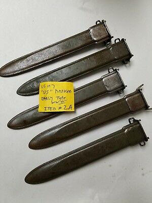 """Us Gi Wwii M1 Garand M7 Early Type Scabbard For 10""""  Bayonet Marked Us. Item #2A"""