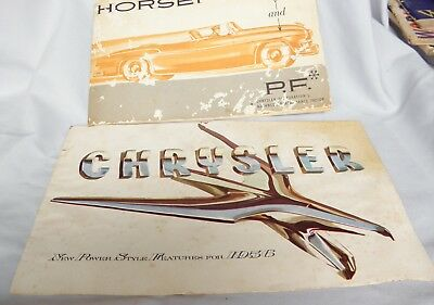 1956 Showroom Brochure Chrysler  All Models &  Horsepower  Brochure
