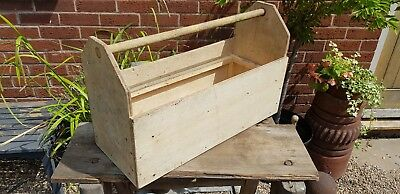 Primitive Home Home Made Carpenter Toolbox Tool Carrier With Handle