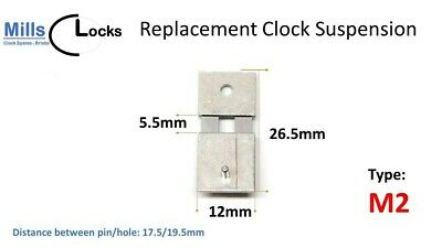Steel Clock Pendulum Suspension Spring. (26.5mm x 5.5mm x 12mm) (Type M2)